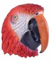Carnavalskleding papegaaien maskers volwassenen