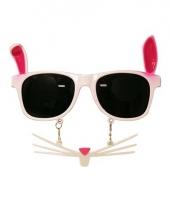 Carnavalskleding party snor bril konijn