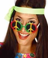 Carnavalskleding peace sixties flower power verkleed bril