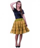 Carnavalskleding petticoats laags goud