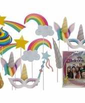 Carnavalskleding photo booth prop accessoires eenhoorn thema
