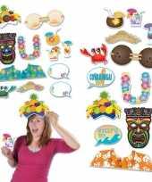 Carnavalskleding photo booth prop accessoires strand thema tropisch