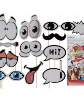 Carnavalskleding photo booth props cartoon set