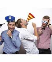 Carnavalskleding photo booth props politie thema