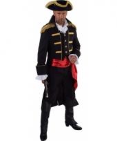 Carnavalskleding piraat verkleed jas zwart heren