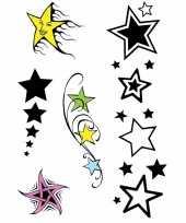 Carnavalskleding plak sterren tattoo sets stuks