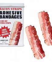 Carnavalskleding pleisters een blikje bacon
