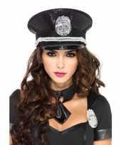 Carnavalskleding politie pet pailletten dames