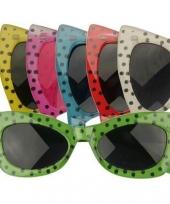 Carnavalskleding polkadot zonnebril