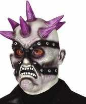 Carnavalskleding punk zombie horror halloween masker latex