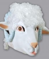Carnavalskleding ram schaap masker wit
