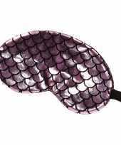 Carnavalskleding reis slaapmasker oogmasker zeemeermin schubben roze zwart volwassenen
