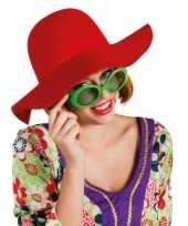 Carnavalskleding rode flaphoed dames
