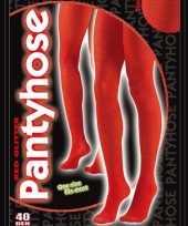 Carnavalskleding rode glanzende panty denier
