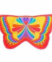 Carnavalskleding rode regenboog vlinder kindervleugels