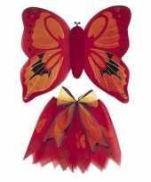 Carnavalskleding rode vlinder vleugels meisjes