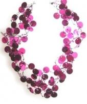 Carnavalskleding roze pailletten ketting