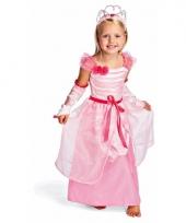 Carnavalskleding roze prinsessenjurk kids