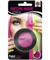 Carnavalskleding roze uv hairchalk