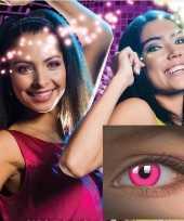 Carnavalskleding roze uv partylenzen