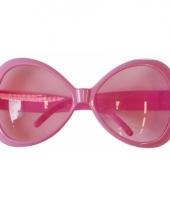 Carnavalskleding roze zonnebrillen