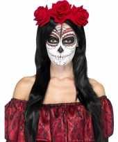Carnavalskleding rozen haarband rood