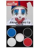 Carnavalskleding schmink palet clown kleuren