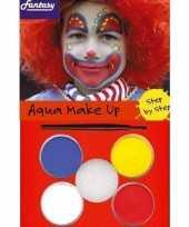 Carnavalskleding schminksetje clown