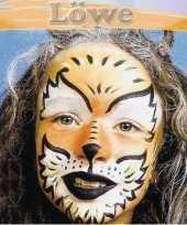 Carnavalskleding schminksetje leeuw kinderen