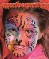 Carnavalskleding schminksetje regenboog tijger kinderen