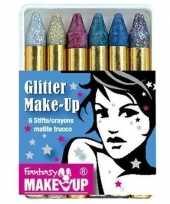 Carnavalskleding schminkstiften kleuren glitter
