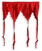 Carnavalskleding sexy jarretels rood