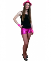 Carnavalskleding sexy roze shorts dames