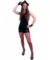 Carnavalskleding sexy zwarte shorts dames