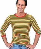 Carnavalskleding shirt carnavalskleuren heren