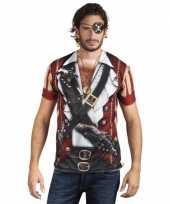Carnavalskleding shirt piraat opdruk