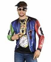 Carnavalskleding shirt rapper opdruk