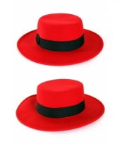 Carnavalskleding spaanse hoeden rood