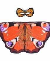 Carnavalskleding speelgoed dagpauwoog vlinder verkleedset