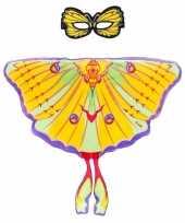 Carnavalskleding speelgoed gele komeetstaart vlinder verkleedset