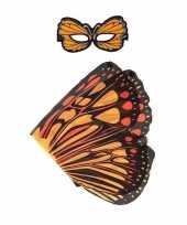 Carnavalskleding speelgoed oranje monarchvlinder verkleedset