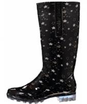 Carnavalskleding sterrenprint regenlaarzen dames