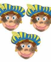 Carnavalskleding stuks roetveeg pieten maskers 10096309