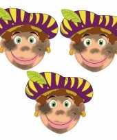 Carnavalskleding stuks roetveeg pieten maskers