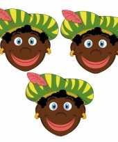 Carnavalskleding stuks zwarte pieten maskers 10096305