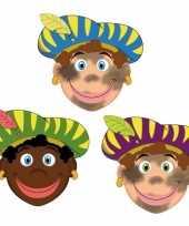 Carnavalskleding stuks zwarte pieten maskers