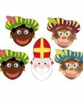 Carnavalskleding stuks zwarte pieten sinterklaas maskers 10096302