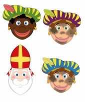 Carnavalskleding stuks zwarte pieten sinterklaas maskers