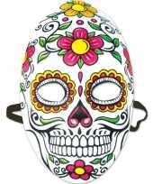 Carnavalskleding sugarskull verkleedaccessoire masker dia los muertos day of the dead dames