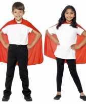 Carnavalskleding superhero kindercape rood